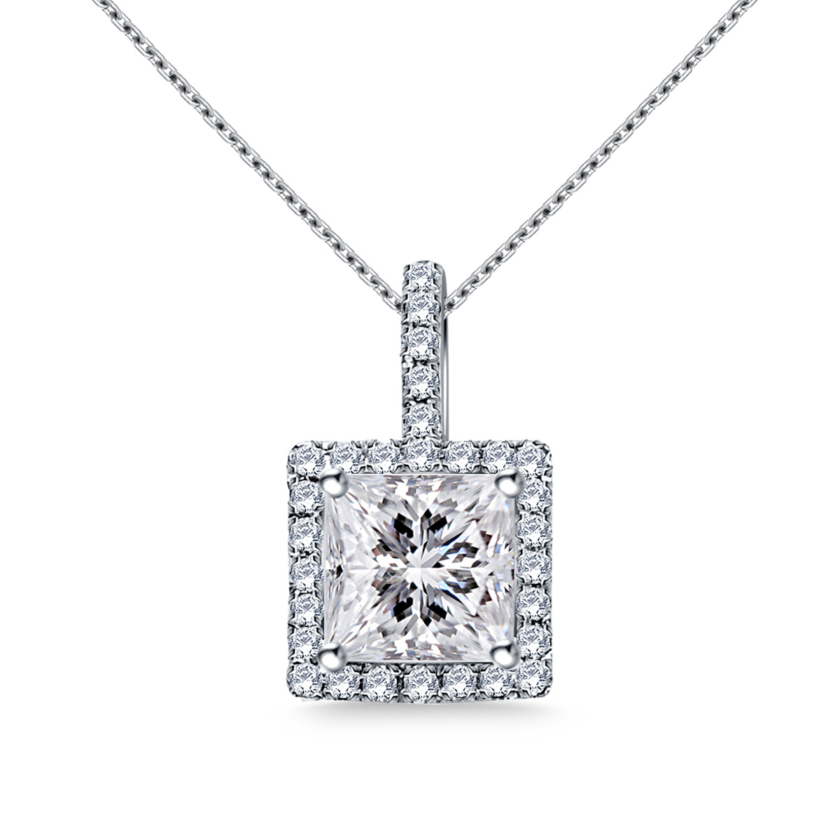 gold mark cut solitaire white necklace princess michael pendant diamond